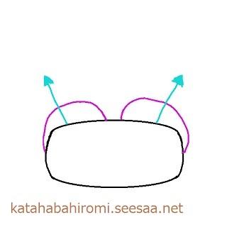日本人タイプの平たい肋骨かつ大きいバストの土台では胸が外向きになる