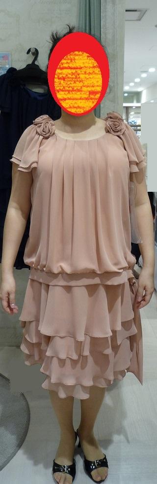 バストが大きい女性に合う袖あり袖なし2wayドレス