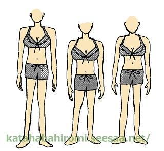 肩幅が広い女性が選んではいけない水着